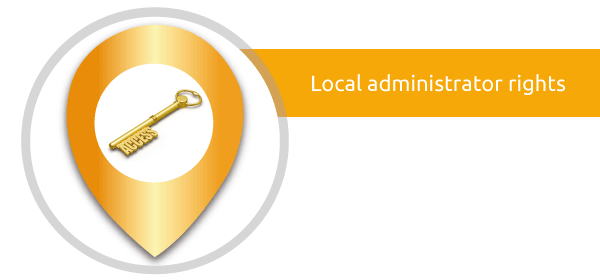 accesmanager sets the local admins rights - capmon